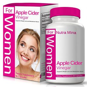 Apple Cider Vinegar Capsules for Women – Natural Source of Pectin, Vitamins and Minerals That are Important in Maintaining Health & Wellness, Made in USA – 60 Capsules
