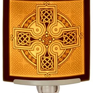 Celtic Cross – Curved Porcelain Lithophane Night Light