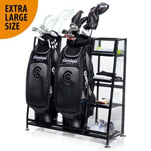 Milliard Golf Organizer – Extra Large Size – Fit 2 Golf Bags and Other Golfing Equipment and Accessories in This Handy Storage Rack – Great Gift Item