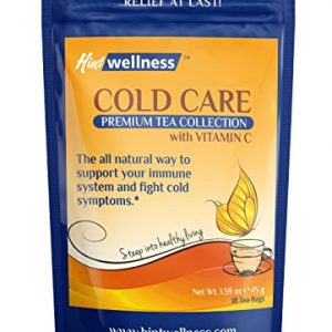 Cold Care With Vitamin C – Natural Immune Booster – Herbal Tea Blend For Immune Support – By Hint Wellness – 45g
