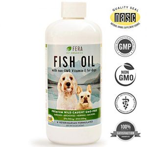 Fish Oil For Dogs – Omega 3 Fatty Acids Supplement Supports Joint, Immune, Heart, Skin, Coat Health – Pure Wild Caught Non GMO Sardine, Anchovy, Mackerel – Highest All Natural EPA DHA