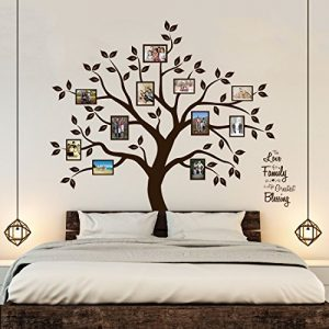 Timber Artbox Beautiful Family Tree Wall Decal with Quote – The Only Décor You Need for Living Room & Bedroom