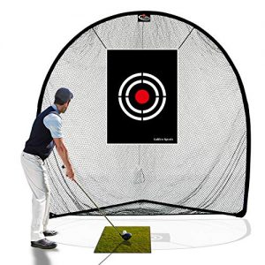 Galileo Golf Net Golf Hitting Nets for Backyard Driving Indoor Use 8′(L) X8′(H) X3′(W) Practice Portable Driving Range Indoor Golf Net Training Aids with Target and Carry Bag