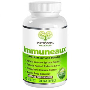 Immuneuax: Doctor Recommended Premium Immune Support Formula- #1 Used Supplement for Immune System Booster for Traveling- Vitamin C, Zinc, Elderberry, Echinacae, Garlic Extract- 60 Tablets