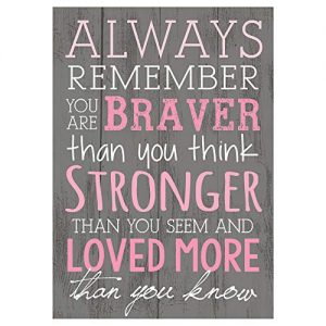 P. Graham Dunn Always Remember You are Braver Than You Think 4×6 Wall Plaque
