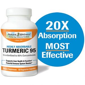 Turmeric 95, by Natural Wellness, Offers a Highly absorbable Turmeric and BioPerine® Combination – 60 vcaps