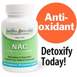 N-Acetyl L-cysteine NAC by Natural Wellness, Key Antioxidant and Glutathione Precursor – 90 500mg Vegetarian Capsules