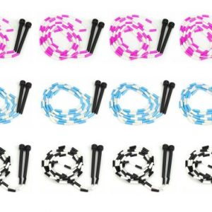 K-Roo Sports Lot of 12 7-foot Jump Ropes with Plastic Segmentation