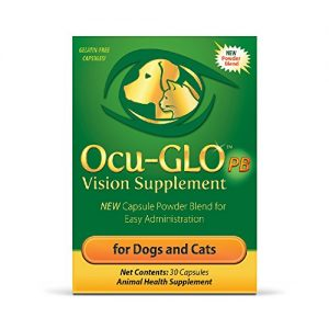 Ocu-GLO PB for Small Dogs & Cats Vision Supplement – Eye Support for Dogs – Easy to Administer w/Lutein, Omega-3 Fatty Acid & Antioxidants – Add Directly to Food – Support Optimal Eye Health, 30ct