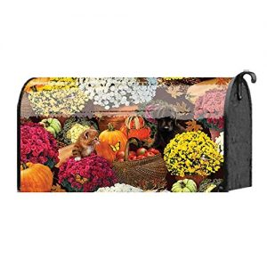 Autumn Flower Harvest with Friends 18 x 22 Harvest Standard Size Mailbox Cover