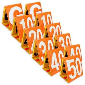 Day & Night Football Yard Markers, Full Set of 11 by Crown Sporting Goods