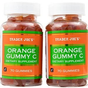 Orange Gummy Vitamin C Dietary Supplement – Two Bottles