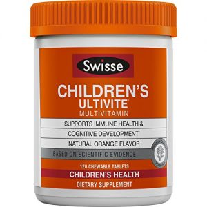 Swisse Ultivite Daily Multivitamin for Children, Orange Flavored |Supports Immune Health & Cognitive Development | for Kids Ages 2-12 Years Old |120 Chewable Tablets