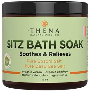 Best Organic Sitz Bath Soak For Postpartum Care Recovery & Natural Hemorrhoid Treatment, Soothes Relieves Pain Reduces Discomfort, 100% Pure Epsom & Dead Sea Salts Witch Hazel Lavender…