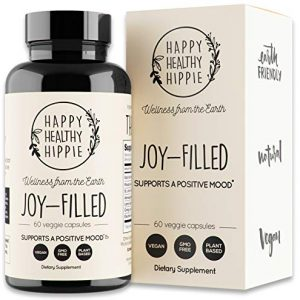 Joy-Filled | 100% Plant-Based Supplement for Anxiety & Depression Relief | Helps Relax The Mind, Boosts Mood, Relieve Stress | Contains 7 Powerful Herbs, Non-GMO, 60 Vegan Capsules