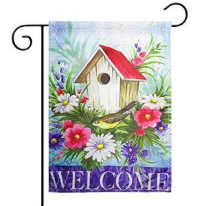 Spring Garden Flag Season Flag Welcome Flag,Indoor and Outdoor Flags,Double-Sided (Birdhouse)