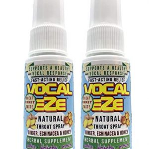 Vocal Eze, Vocal Herbal Throat Spray (2) Bottle   Celebrity Endorsed   Relieve Sore, Horse, Fatigue, Dryness, Immune Support, All Natural Ingredients