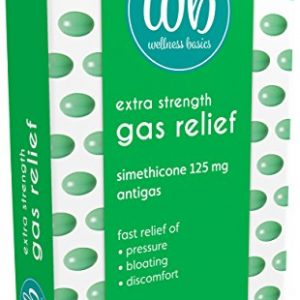 Wellness Basics Extra Strength Gas Relief Simethicone 125 Mg Soft Gel, 30 Count