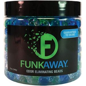 FunkAway Odor Eliminating Beads – Supercharged Odor Absorbing Beads for The House, Car, or Gym – Neutralize Smoke, Pet, and Bathroom Odors – 12 oz