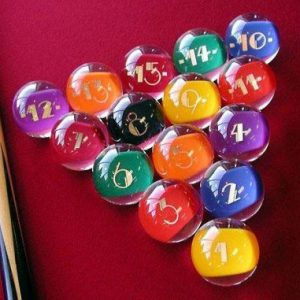 Epco Premium Quality, American Made, Clear-Rocco Style Billiard or Pool Set, with 4.2oz, 2.25″ diam balls