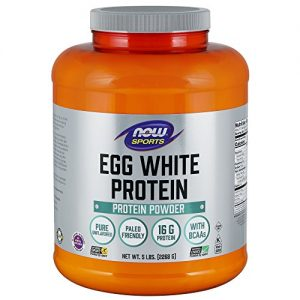 Now Sports Nutrition, Egg White Protein Powder, Unflavored, 5-Pound