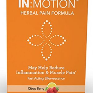 IN:MOTION Herbal Pain Formula Natural Pain Relief 10 Delish Drink Mix Packs, Citrus Berry Flavor, Corydalis, Tumeric, Ginger + 9 More Anti-INFLAMMATORY ADAPTOGEN Herbs, Clinically Proven Ingredients