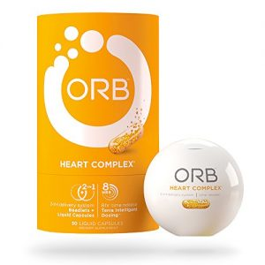 ORB Heart Complex – Time-Released COQ10 |24-Hour Heart-Health Support, Supports Cardiovascular Health, Supports Healthy Blood Pressure, Antioxidant Support – 30 Count