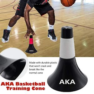 AKA Basketball Rip Cone-Pro(1 Pair Including 2 Units,White & Red | Drill Training Equipment for Basketball and Other Sports