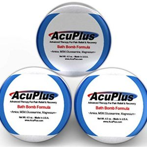 AcuPlus Pain Relief Bath Bomb Formula – Advanced Therapy For Pain Relief & Recovery from Bursitis, Arthritis, Tendonitis, Muscle Aches, and Body Pain (4.5 ounce Bath Bomb 3 Pack)
