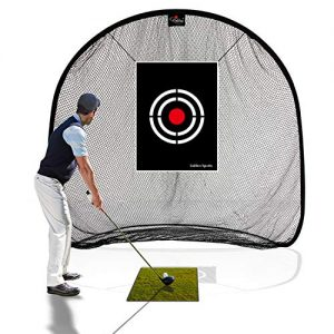 Galileo Golf Net Golf Hitting Nets for Backyard Practice Portable Driving Range Golf Cage Indoor Golf Net Training Aids with Target 7'x7'x4.5′