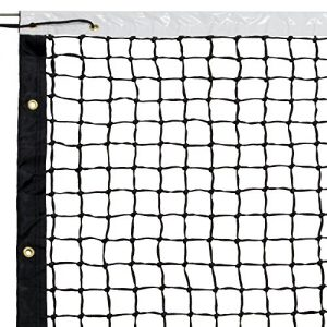 Crown Sporting Goods 42′ Tennis Net & Winch Cable with Carry Bag – Full Size Replacement Net for Indoor & Outdoor Tennis Courts