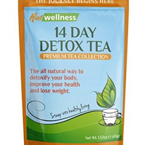 Hint Wellness 14 Day Detox Tea – For Weight Loss, Digestion, and Bloating – Natural Ingredients Blended in USA, 43g Loose Leaf Tea