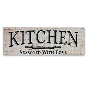 myVintageFinds Kitchen Sign – Rustic Kitchen Decor, Farmhouse Wall Decor, Made In America, Kitchen Sign Wall Decor And Decorations