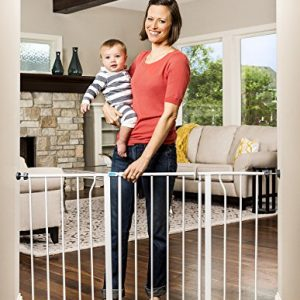 Regalo Easy Open 47-Inch Super Wide Walk Thru Baby Gate, Bonus Kit, Includes 4-Inch and 12-Inch Extension Kit, 4 Pack Pressure Mount Kit and 4 Wall Cups and Mounting Kit