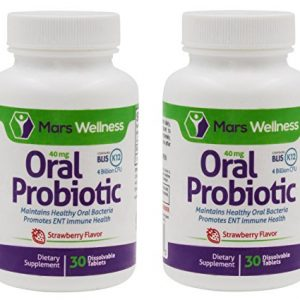 Daily Oral Probiotic Supplement w/BLIS K12 (60 Tablets) 4 Billion CFU Help Maintain Ear, Nose, and Throat Health – 60 Day Supply