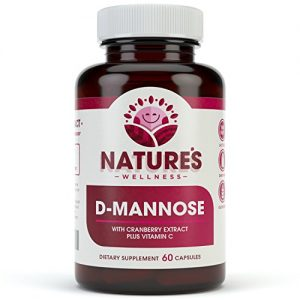 D-MANNOSE with Cranberry Extract Plus Vitamin C | Urinary Tract Health – UTI Protection – Flush Impurities – Immune System |Non GMO| 60 Veg Capsules | 600mg D-Mannose + 200mg Cranberry Extract