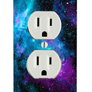 Nebula Galaxy Space Design Pattern Print Electrical Outlet Plate