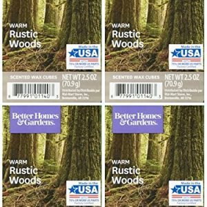 Better Homes and Gardens Warm Rustic Woods Wax Cubes – 4-Pack