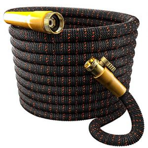 TBI Pro [Upgraded 2019] Garden Hose Expandable & Flexible – Super Durable 3750D Fabric | 4-Layers Flex Strong Latex | No Rust Brass Connectors with Pocket Protectors (50FT Hose Only)